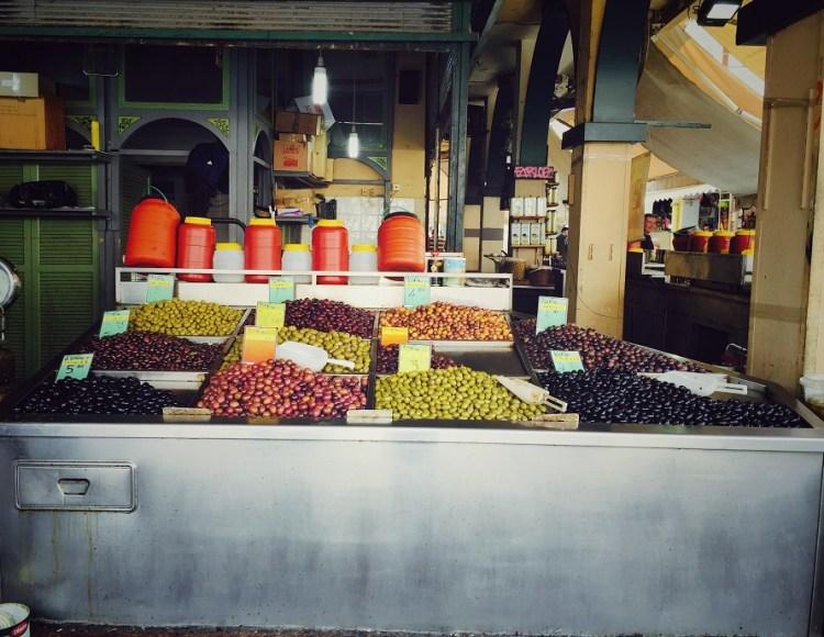 Thessaloniki Kapani Markt Oliven