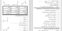 """أوراق عمل وحدة """"الهندسة والقياس"""" الصف الثالث"""