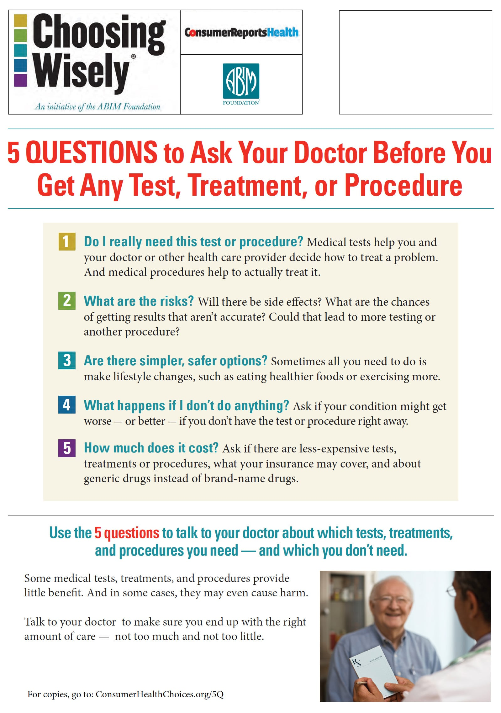 5 Questions To Ask The Doctor About Tests And Treatments