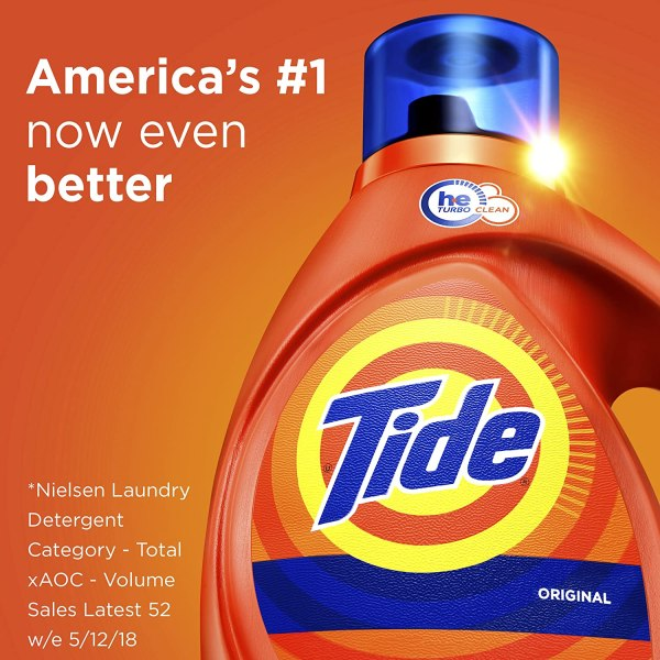 Amazon: 64 Loads Tide HE Turbo Clean Laundry Detergent ...