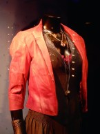 Photo of costumes for scarlet witch on display