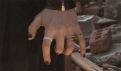 Cropped photo showing Scarlet Witch Wanda Maximoff's right-hand rings from Avengers 2 Age of Ultron