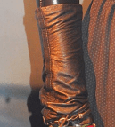 Photo of Scarlet Witch Wanda Maximoff right-hand bracer with back side inset seam