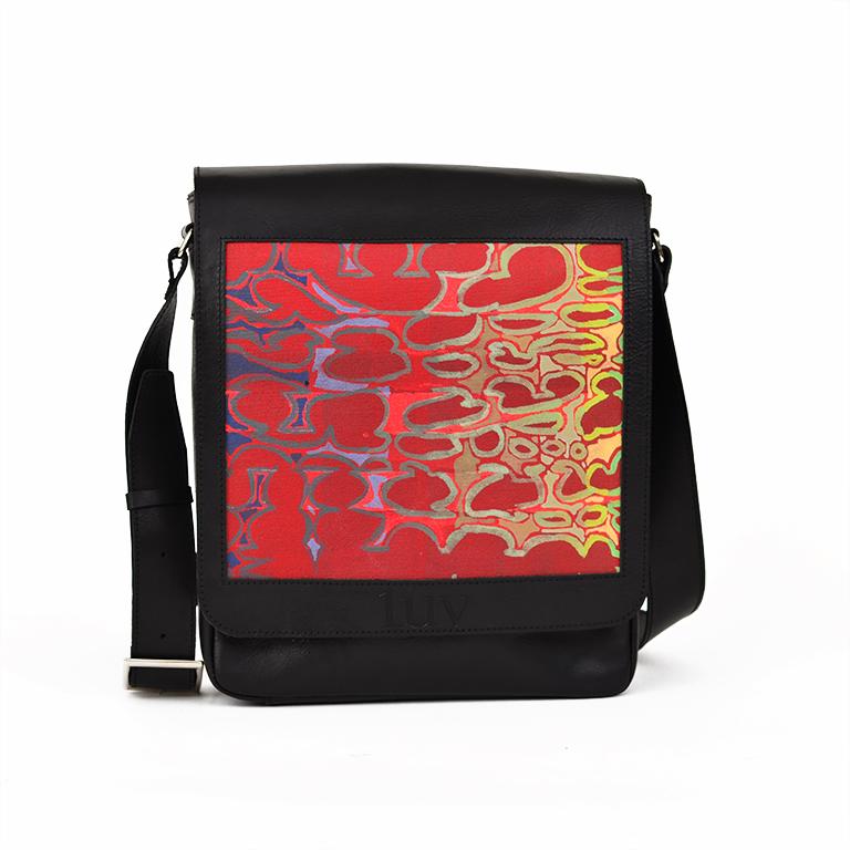 MB Messenger Bag-Red Birkeland-Black