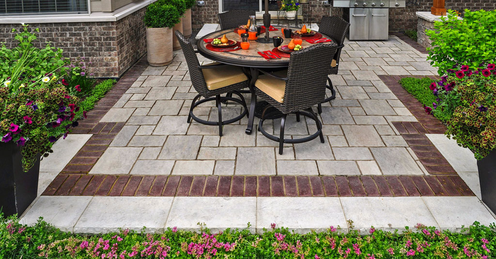 10 Patios That Use Paver Patterns to Make a Statement ... on Brick Paver Patio Designs  id=44526