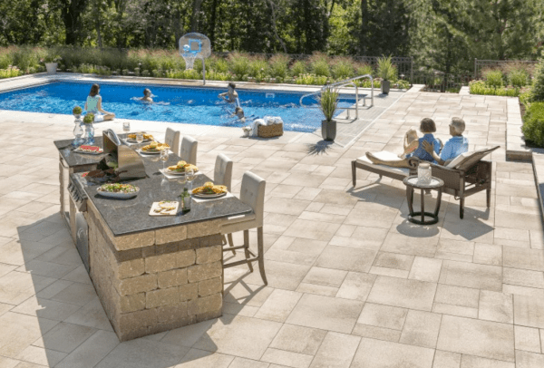 outdoor kitchen with pool and patio 10 Outdoor Kitchen designs sure to Inspire