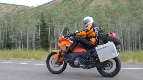 The 990 is plush compared to the F800GS, but Glenn found the backrest helped.