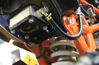 Adaptor plate integrates cleanly into the existing fuel pump.