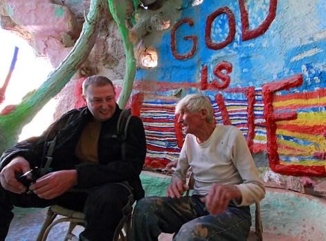 Author Neil Johnston and Leonard Kight