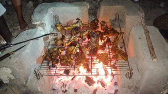 It's not turkey and stuffing, but a Christmas meal of barbecued goat is still delicious!