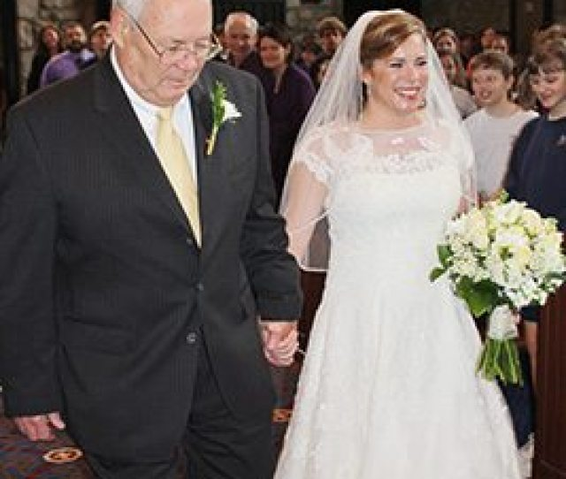 Lawrence Ross Escorts His Daughter Beth Anne Down The Aisle For Her April