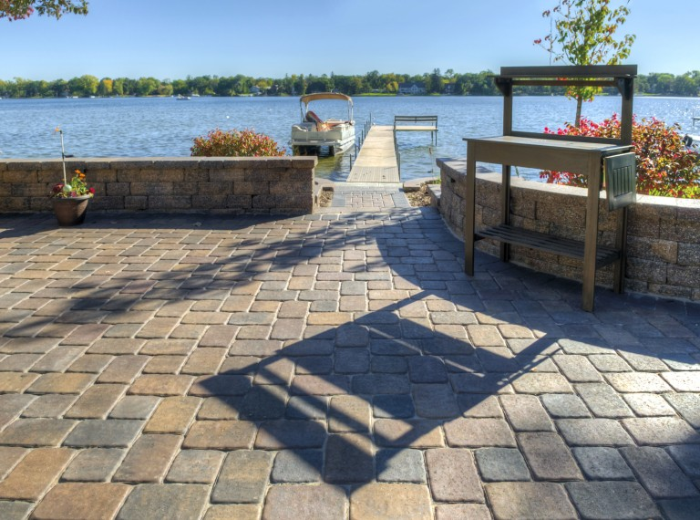 Lakefront Patio with Camelot Paver - Photos on Lakefront Patio Ideas id=77310