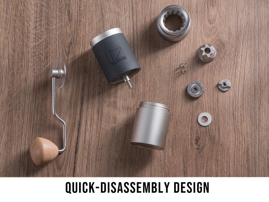JX grinder - quick-disassembly design