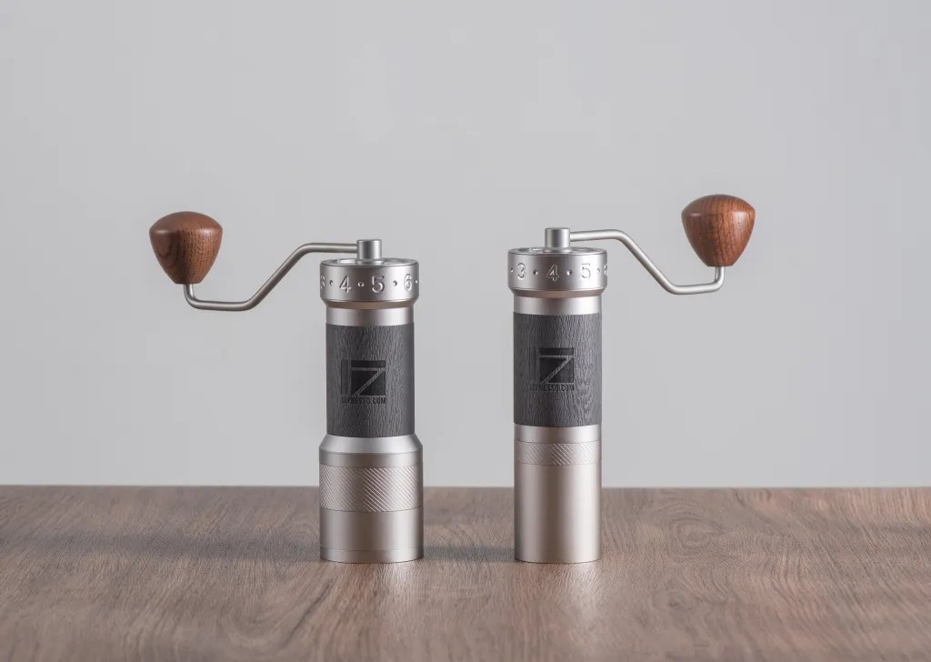 K-Plus grinder and K-Pro grinder standing on the table