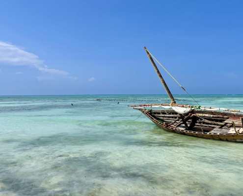 Boot im Meer