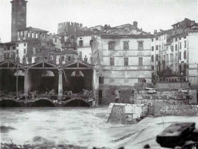 Rovine del ponte Nuovo viste da S. Tomaso, 1882, G. Bertucci-2-2-2