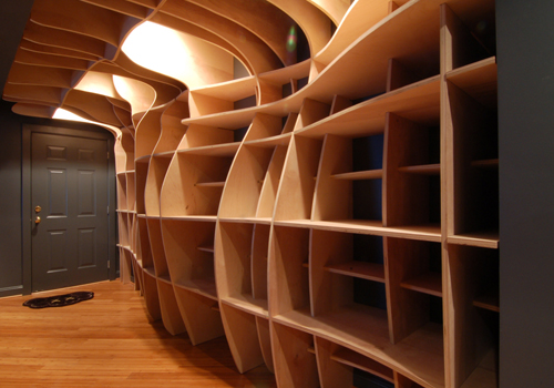 Digitally Fabricated Bookshelf by dbd Studio in interior design home furnishings  Category