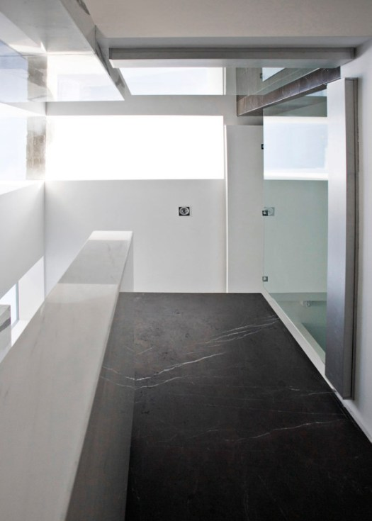 A Dark, Two Level Space Gets a Dramatic Renovation in interior design architecture Category