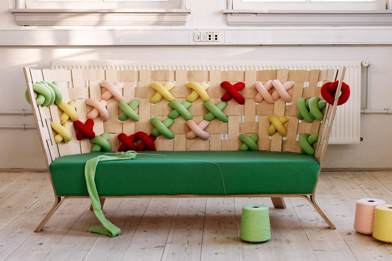 Giant Cross-Stitch Furniture by Ellinor Ericsson