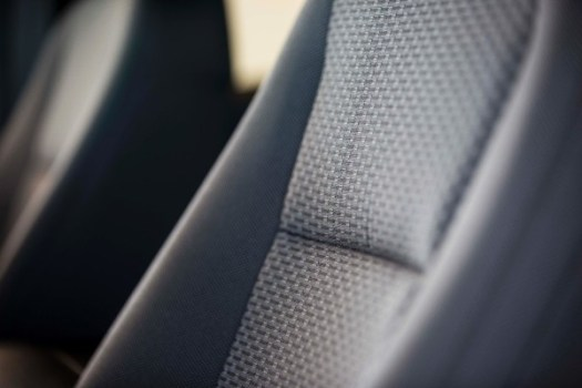 The 2015 Ford F-150 seats are made using a high-performance recycled material called REPREVE fiber, one made from 100% recycled materials, including plastic bottles.