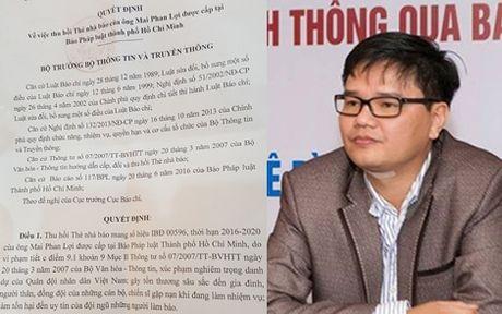 Mai Phan Loi vi pham phap luat nghiem trong cuong quyet xu ly nghiem - Anh 1