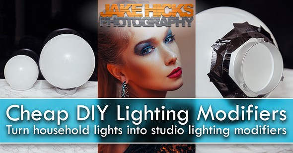 How to turn household lights into cheap DIY lighting modifiers