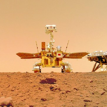 China's Zhurong rover sends back its first images from the Martian surface, including an adorable selfie