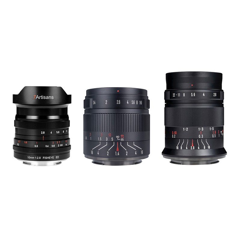 7artisans releases three new budget-friendly primes, including a fisheye and macro lens