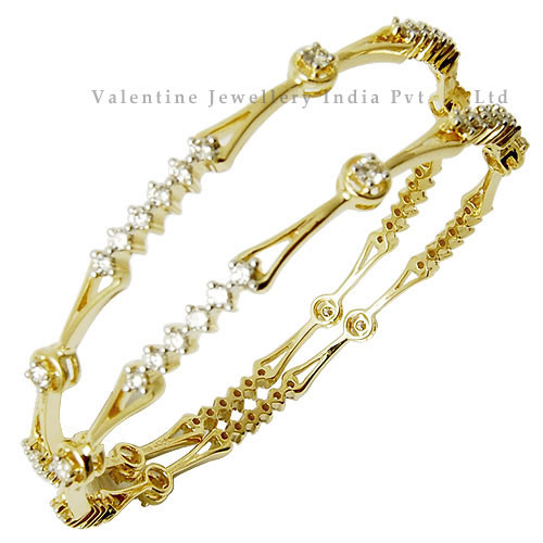 Gold Bangles Ruby Gemstone Studded Gold Bangle Exporter