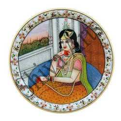 Beautiful Lady Marble Plate
