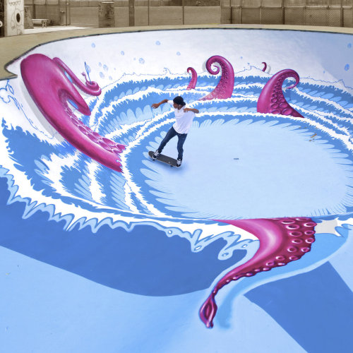 Octopus-Swimmingpool und die Nevercrew