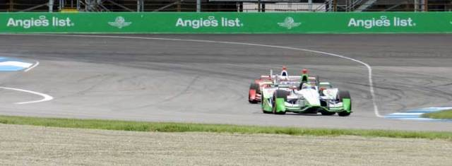 """Maximizing speed into and through Turn 1 results in a """"shallow"""" entry to Turn 2."""