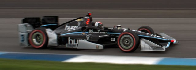 Helio Castroneves finished second with a solid run