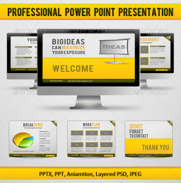 Professional Power Point Presentation - GraphicRiver Item for Sale