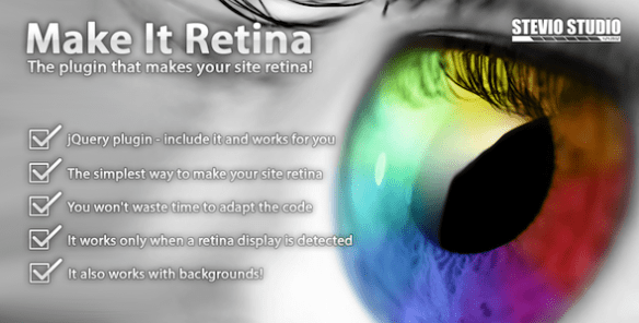 Make It Retina (jQuery plugin for retina display)