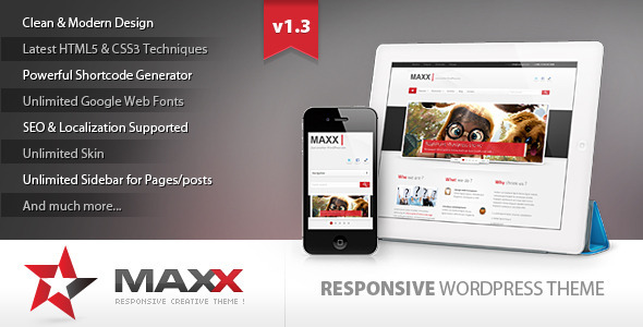 Maxx - Responsive Creative WordPress Theme - Business Corporate