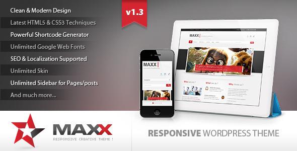 Maxx - Responsive Creative WordPress Theme - Business Corporate