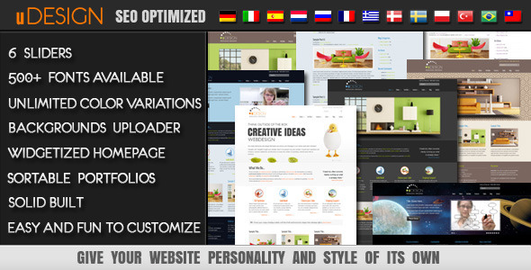 U-Design WordPress Theme - ThemeForest Item for Sale