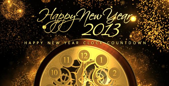 VideoHive Happy New Year Countdown Clock 3605843