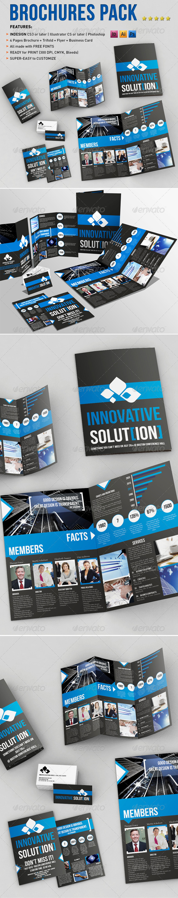 Brochure Pack A4+Trifold Leaflet+Business Card - Corporate Brochures