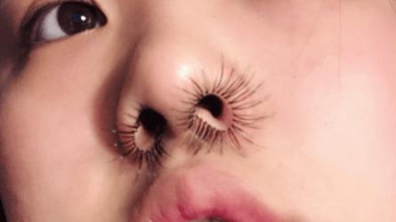 Resultado de imagen de eyelashes nose