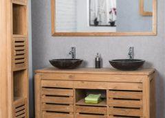 Ajoutez un espace de rangement attrayant à une petite salle de bains