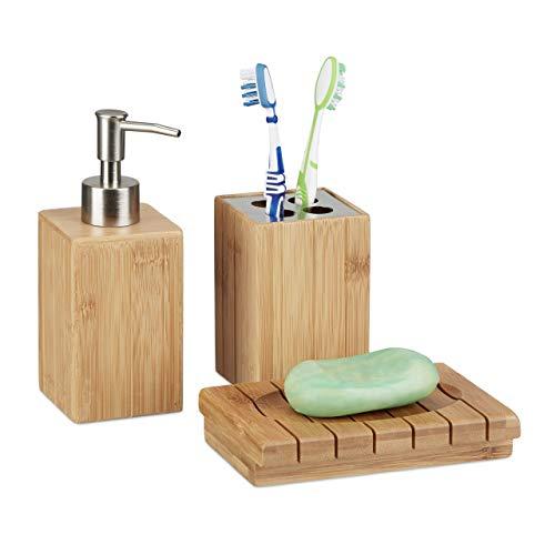 Ensemble bambou salle de bain