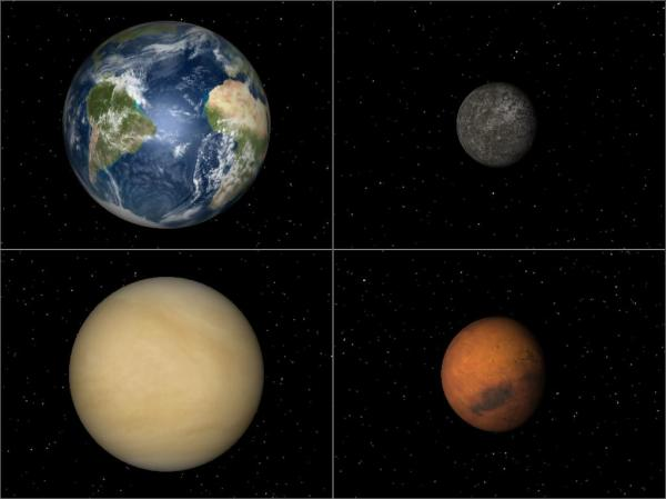 The inner solar system has rocky planets ...
