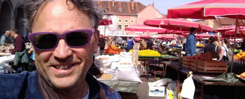 Lee enjoying Dolac Market in Zagreb
