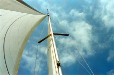 With wind in our sails, we hit the seas.