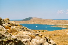 View of the harbor from Mt. Kythnos.