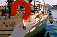 Our craft: a 44-foot Jeaneau Sun Odyssey. Despite its given name, we suffered no mishaps involving the keel.