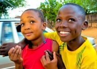 """My host brothers pointed to the boy on the left, saying, """"This one, Thabo, he is too naughty."""""""