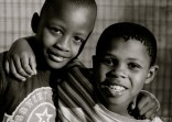 Two young friends in Letlhakaneng.